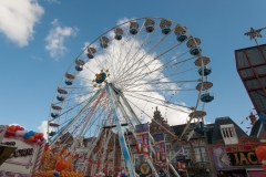 Europa Rad op Koningsdag op de kermis in Haarlem