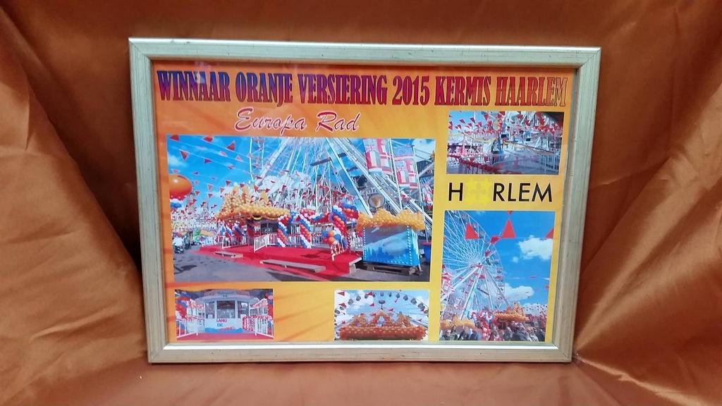 Winnaar oranjeversiering Kermis Haarlem 2015