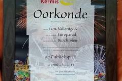 Publieksprijs Kermis Oss 2013